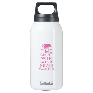 Time spent with cats is never wasted. insulated water bottle