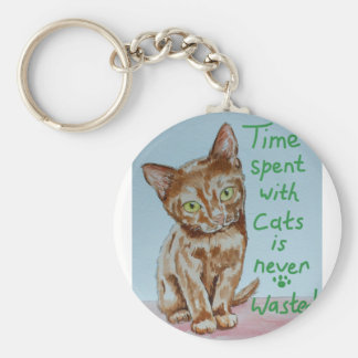 Time Spent With Cats... Keychain