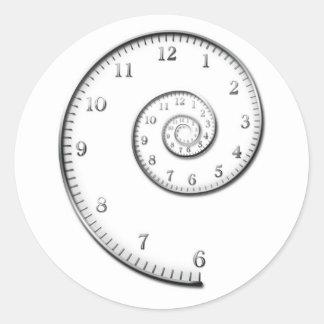 Time Spiral Classic Round Sticker