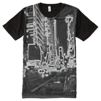 Time Square Light All-Over Printed T-Shirt
