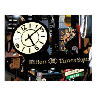 Time Square New York Painting by Anthony Ross Postcard