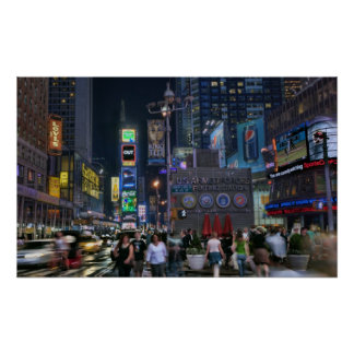 Time Square Night Poster