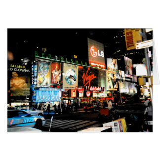 Time Square NYC New York City Blank Greeting Card