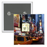 Time Square Taxis 2 Inch Square Button