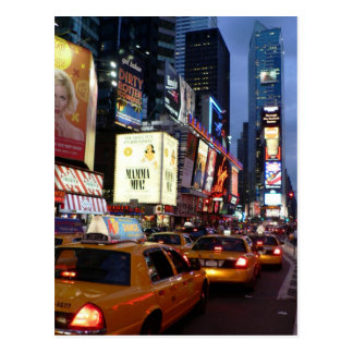Time Square Taxis Postcard