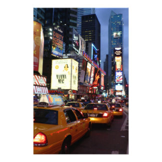Time Square Taxis Personalized Stationery