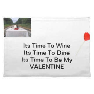 Time to be my valentine cloth place mat