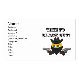 Time To Black Out Business Card Templates