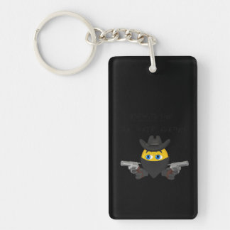 Time To Black Out Double-Sided Rectangular Acrylic Keychain
