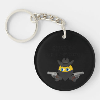 Time To Black Out Single-Sided Round Acrylic Keychain