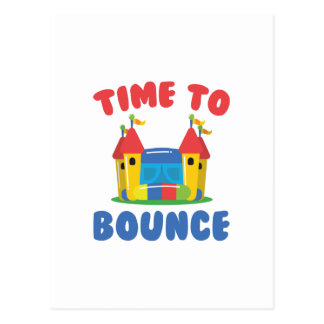 Time To Bounce Postcard