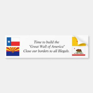 """Time to. build the """"Great Wall of America"""" Bumper Sticker"""