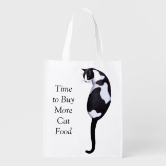 Time to Buy More Cat Food Grocery Bag