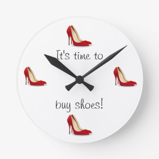 Time to buy shoes clock