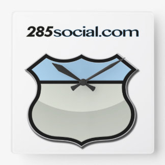 Time to buy some swell 285Social.com swag! Square Wall Clock