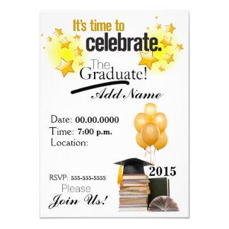 "Time to Celebrate Custom Graduation Invitation 4.5"" X 6.25"" Invitation Card"