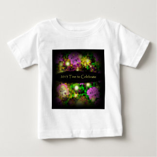 time to celebrate rose floral 2013.jpg baby T-Shirt