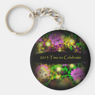 time to celebrate rose floral 2013.jpg key chains