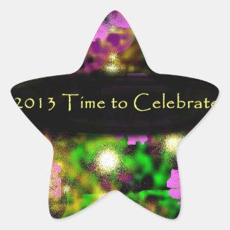 time to celebrate rose floral 2013.jpg star sticker