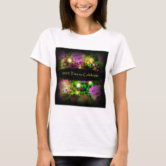 time to celebrate rose floral 2013.jpg T-Shirt
