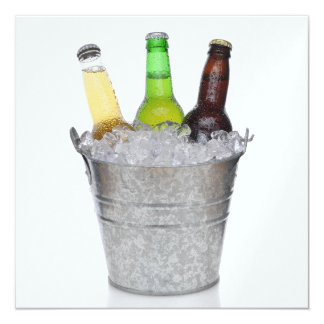 Time to Chill - Beer Bottles Invitation