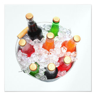Time to Chill Cold Soda Bottles Invitation