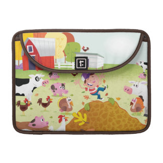 Time to Count - Farmyard MacBook Pro Sleeve