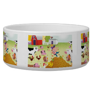Time to Count - Farmyard Dog Bowls