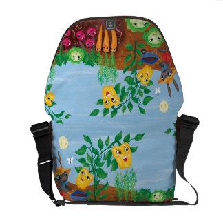 Time To Count-Garden Messenger Bag