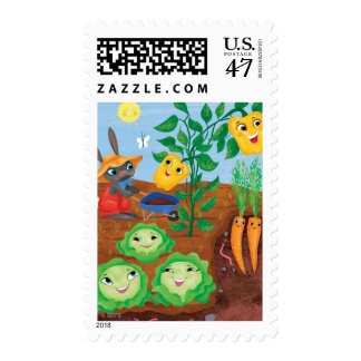 Time To Count-Garden Postage
