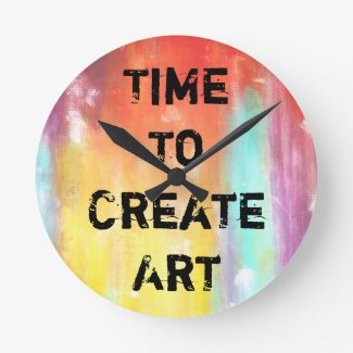 Time To Create Art Round Wallclock