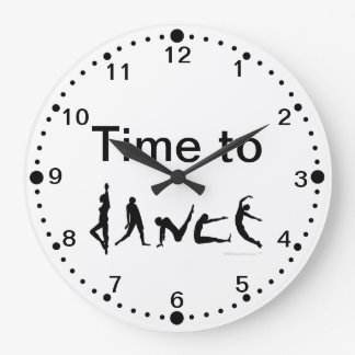 Time to Dance Dancers Silhouettes Wall Clock