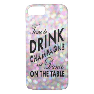 Time to Drink Champagne iPhone 7 Case in Pink