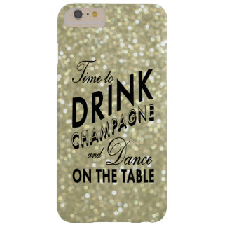 Time to Drink Champagne on Gold iPhone 6 Plus Case
