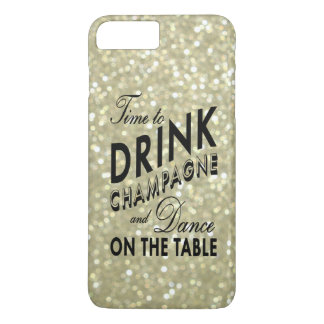 Time to Drink Champagne on Gold iPhone 7 Plus Case