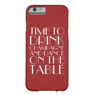 Time to Drink Champagne red iPhone 6/6s Case