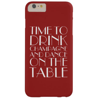 Time to Drink Champagne red iPhone 6/6s Plus Case