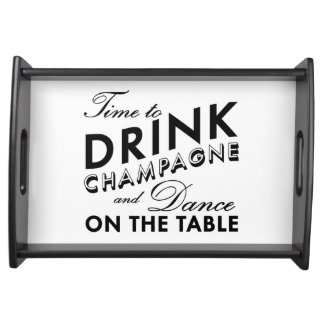 Time to Drink Champagne Serving Tray