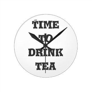 Time to Drink Tea Clocks