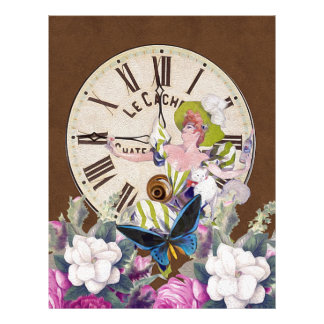 Time To Drink Vintage Collage Letterhead