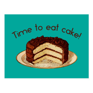 Time to Eat Cake Postcard