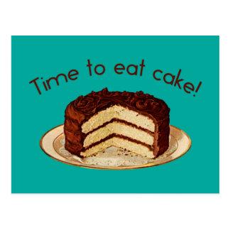 Time to Eat Cake Postcard