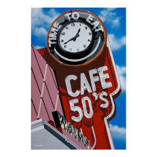Time to Eat Diner Poster