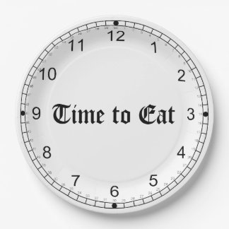 TIME TO EAT PAPER PLATE