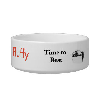 Time to Eat, Rest & Dream Pet Bowl, Customizable Bowl