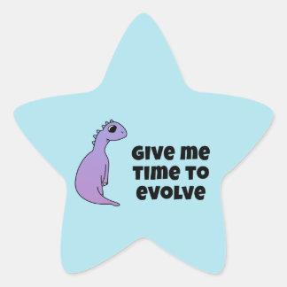 Time to Evolve Star Sticker