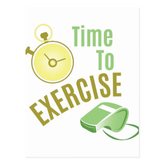 Time To Exercise Postcard