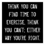 Time to Exercise Poster