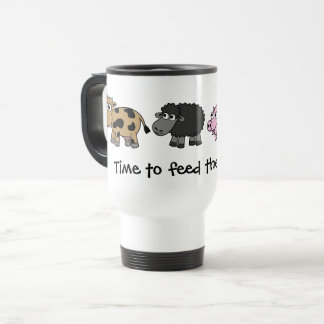 Time to feed the animals! Virtual Farmers Travel Mug