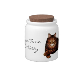 Time to Feed the Kitty Cat Treat Jar